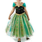 Prinzessin Elsa Anna Kleid Fancy Kostüm Mädchen Party Cosplay Frozen Partykleid