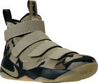 """New Nike Men LEBRON Soldier XI Shoes """"CAMO"""" Neutral/Olive Gold 897644-200"""