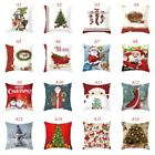 Merry Christmas 2018 Pillow Case Linen Cotton Cushion Cover Home Xmas Decoration image