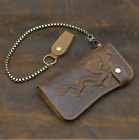 New mad horse leather man vintage wallet, real leather leisure wallet