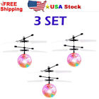 5X Hand Flying UFO Helicopter Ball LED Hovering Saucer Infrared Sensor Floating