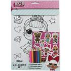 LOL Surprise! Colouring Activity Sticker Packs (Novelty Kids Birthday Gift Xmas)