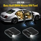 2pcs Wireless Car Led Door Light Welcome Projector Logo Shadow Laser Ghost Lamp