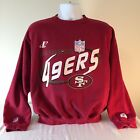 Logo Athletic San Francisco 49'ers Vintage Crew Neck Burgundy Sweatshirt - S XL