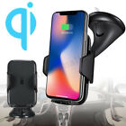 Qi Wireless Car Charger Mount Holder Phone Charging Dock For iPhone XR XS Max