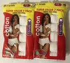 14 Fruit of the Loom Women's Tagless White Cotton Briefs Size 7/L, 9/2X or 10/3X