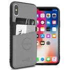 Gray Fabric Credit Card Holder Phone Case for Apple iPhone XS Max / 10S Max