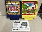 Sega Pico Games Lot of 2  101 Dalmations Math & Scarry's Huckle & Lowly's & book