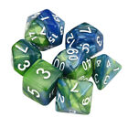 1 Set TRPG Game Dungeons & Dragons Polyhedral D4-D20 Multi Sided Acrylic Dice