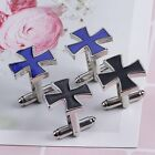 Men's Cross Shape Black Silver Business Shirt Suit Wedding Gift Cufflinks F1