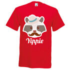 T- Shirt  TEE Hipster American RACCOON YIPPIE MINT size S up to XXL