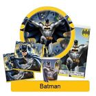 BATMAN Birthday Party Range - Tableware Balloons & Decorations DC Heroes{Unique}