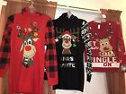 NWT Womens Ugly Christmas sweater Reindeer you choose size