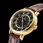 KS Luxury Mens Leather Strap Round Dial Automatic Stainless Steel Wrist Watch image
