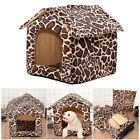 Small Pet Dog Cat Bed House Kennel Cave Sleeping Nest Igloo Pad Cozy Mat Cushion