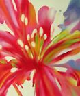 Lily Blossom Abstract Colorful Floral Canvas Hand Painted Stretched Oil Painting