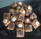 HOMEMADE NATURAL GLUTEN FREE DOG CHOCOLATE TOPPED FLAPJACK TREATS  FREE P&P!