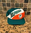 Miami Dolohins Vintage NFL Logo 7 Snap Back Hat. 80's 90's
