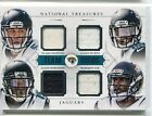 2014 National Treassures Bortles Hurns Robinson Lee QUAD JERSEY RELIC RC 10/49