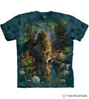 The Mountain 100% Cotton Unisex Adult's T-Shirt Enchanted Wolf Pool NWT.