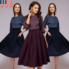 Womens Vintage Style 50s Rockabilly Retro Swing Pinup Evening Party Skater Dress