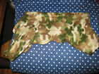dog clothes/camouflage fleece pajamas/homemade by a dog lover/Sizes S/M/L