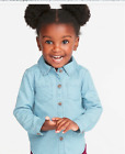 GAP OLD NAVY Chambray Button-Front Shirt for Toddler Girls NWT 3T 4T 5T N4 NNN