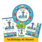 ALL ABOARD 1st First Age 1 Birthday Party Range - Tableware Supplies Decorations