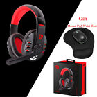 Bluetooth Gaming Headset Headphone Earphone+Mouse Pad Wrist Rest For PC Phone MN