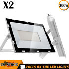 2X 300W Slim LED Flood Light Super Bright Outdoor Lighting Garden Yard Spotlight