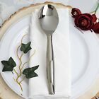Hard Plastic SILVER SERVING SPOONS Disposable SILVERWARE Party Wedding WHOLESALE