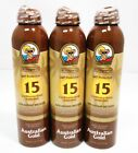 (3) Australian Gold SPF15 Continuous Spray Sunscreen w/Instant Bronzer Exp:09/20