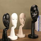 Abstract Resin Crafts Ornaments Women Face Art Statue Sculpture- Black/white