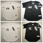 Men's Chicago White Sox Stitched Jersey #15 Beckham #44 Peavy White/Black