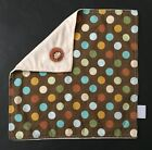 Nojo Polka Dot Monkey Lovey Security Blanket Blankey Two Textures Soft Smooth