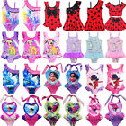 Kids Girls Baby Cute Cartoon One-Piece Swimwear Swimming Costume Swimsuit Bikini image