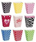 8 Popcorn TREAT BOXES Polka Dots Spots Birthday Party Favour Loot Paper Bags(1C)