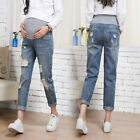 Внешний вид - Pregnant Woman Ripped Jeans Maternity Pants Trousers Nursing Prop Belly Legging