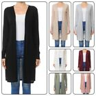 WOMAN LONG SLEEVE DUSTER CARDIGAN WITH SIDE SLIT DETAIL S-3XL Plus  Reg.