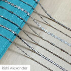 Real SILVER Unique Jewelry SOLID 925 Sterling Silver Chain Necklace Made Italy image