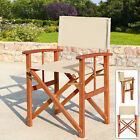 Folding Directors Chair Wood Frame Oxford Fabric Seat Cafe Bistro Garden Patio
