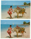 Jamaica One Of The Stars of the Native Floor Show Lot of 2 Postcards