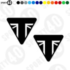 TRIUMPH Plain Triangle - Vinyl Decal / Sticker  - Street Cup Triple 2799-0119 $5.58 USD on eBay