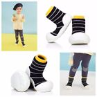 ATTIPAS URBAN YELLOW ergonomical child sock shoes minimalist rubber bottom soles