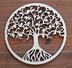 Tree Of Life Circle Unfinished Wood Laser Cutout Cut Out Shapes Door Wall Sign