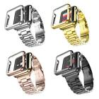 Stanless Steel Band Braclet with Case Cover For A pple Watch Series 4 3 2 EL