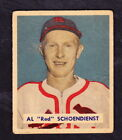 1949 BOWMAN #111 RED SCHOENDIENST SST. LOUIS CARDINALS HALL OF FAMER