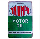 TRIUMPH MOTOR OIL Vintage METAL TIN Motorcycle Advert Retro Sign - 30cm x 20cm $33.18 CAD on eBay