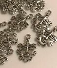Antique silver Tibetan charms pendants jewellery card making crafts LOT 1