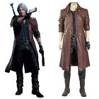 DmC Devil May Cry 5 Dante Cosplay Costume Tony Redgrave Outfit Leather Coat Only